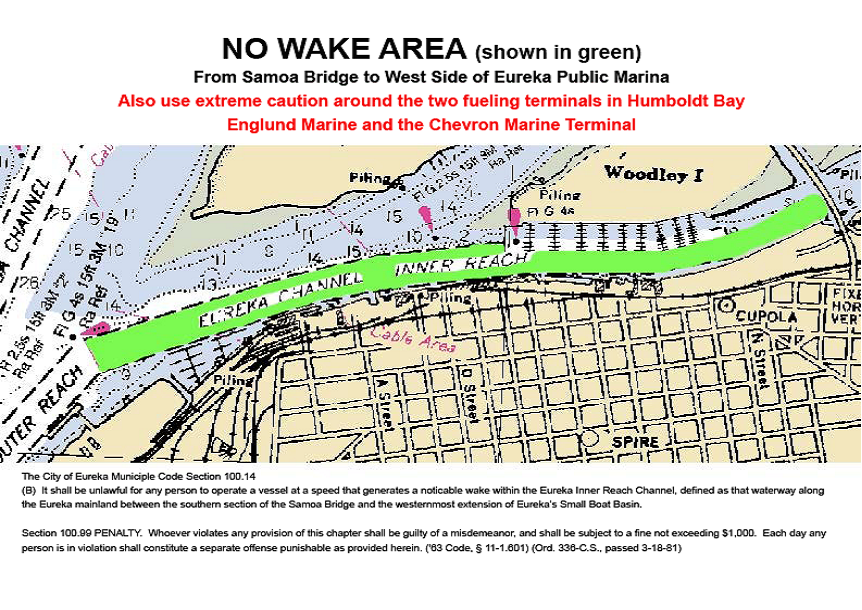 No Wake map