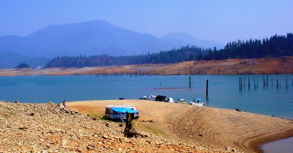 Low water at Lake Shasta